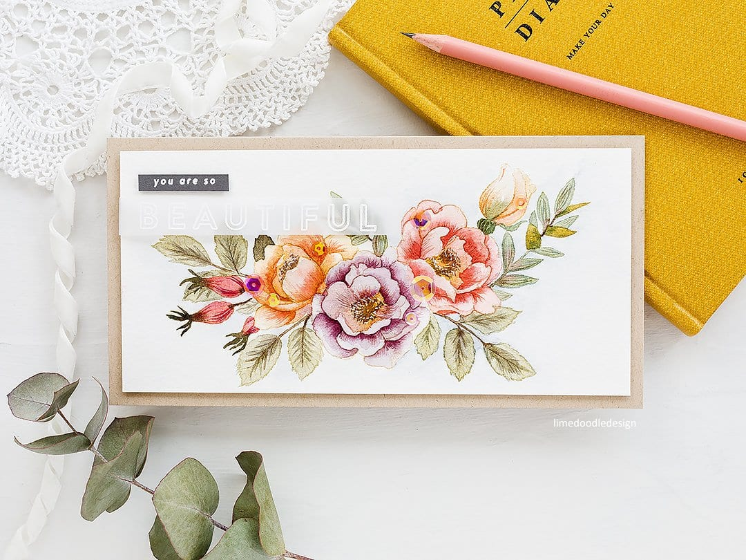 Clean and simple floral watercolour tutorial, handmade card by Debby Hughes using supplies from Simon Says Stamp #watercolor #tutorial #homemade