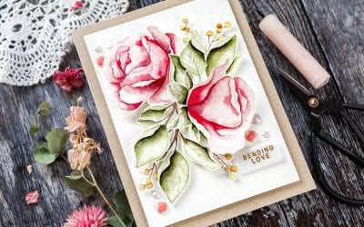Watercoloured Roses + Blog Party!
