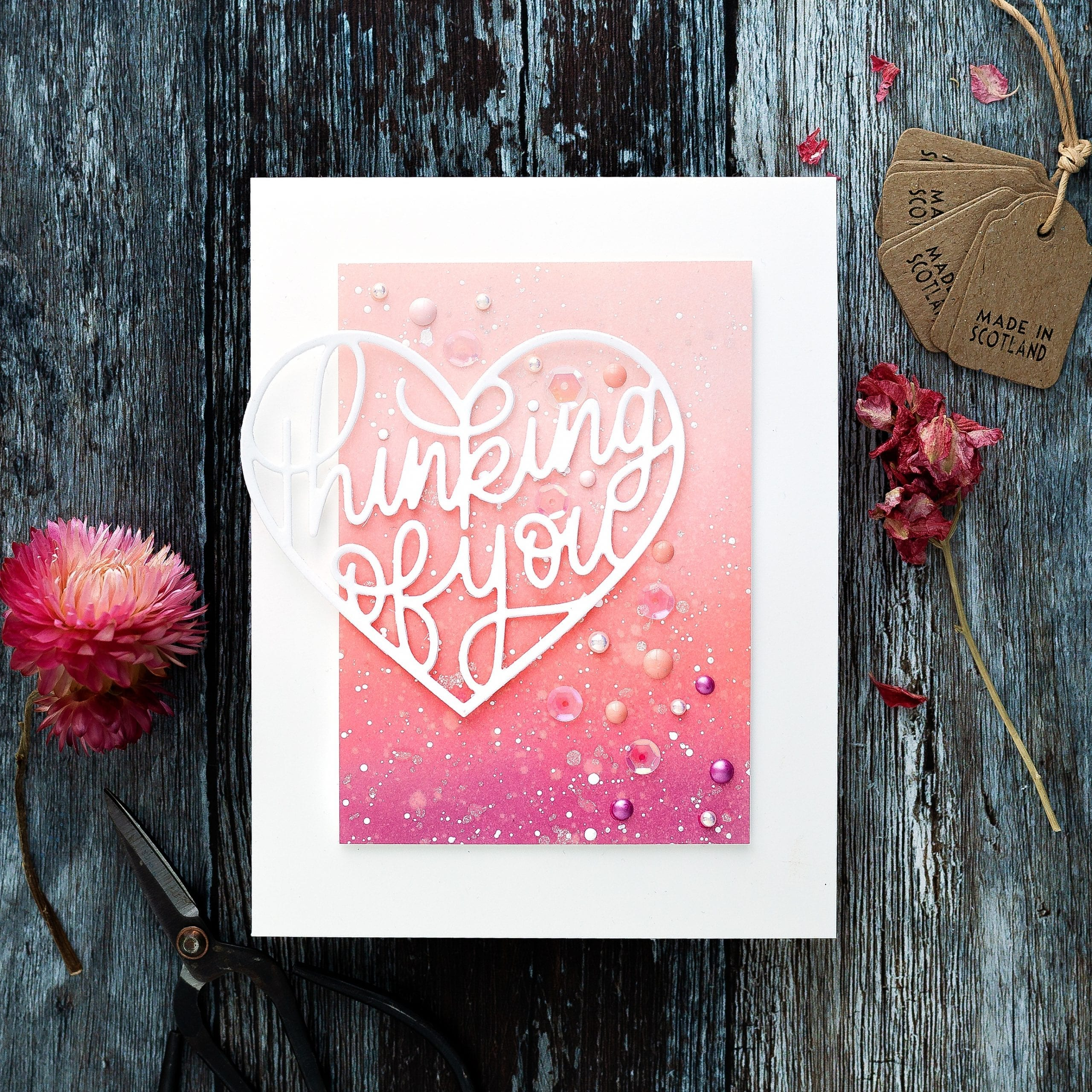 Tutorial, how to create movement in a handmade card design by Debby Hughes using supplies from Simon Says Stamp