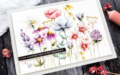 Watercoloured Wild Flower Meadow + New Simon Release
