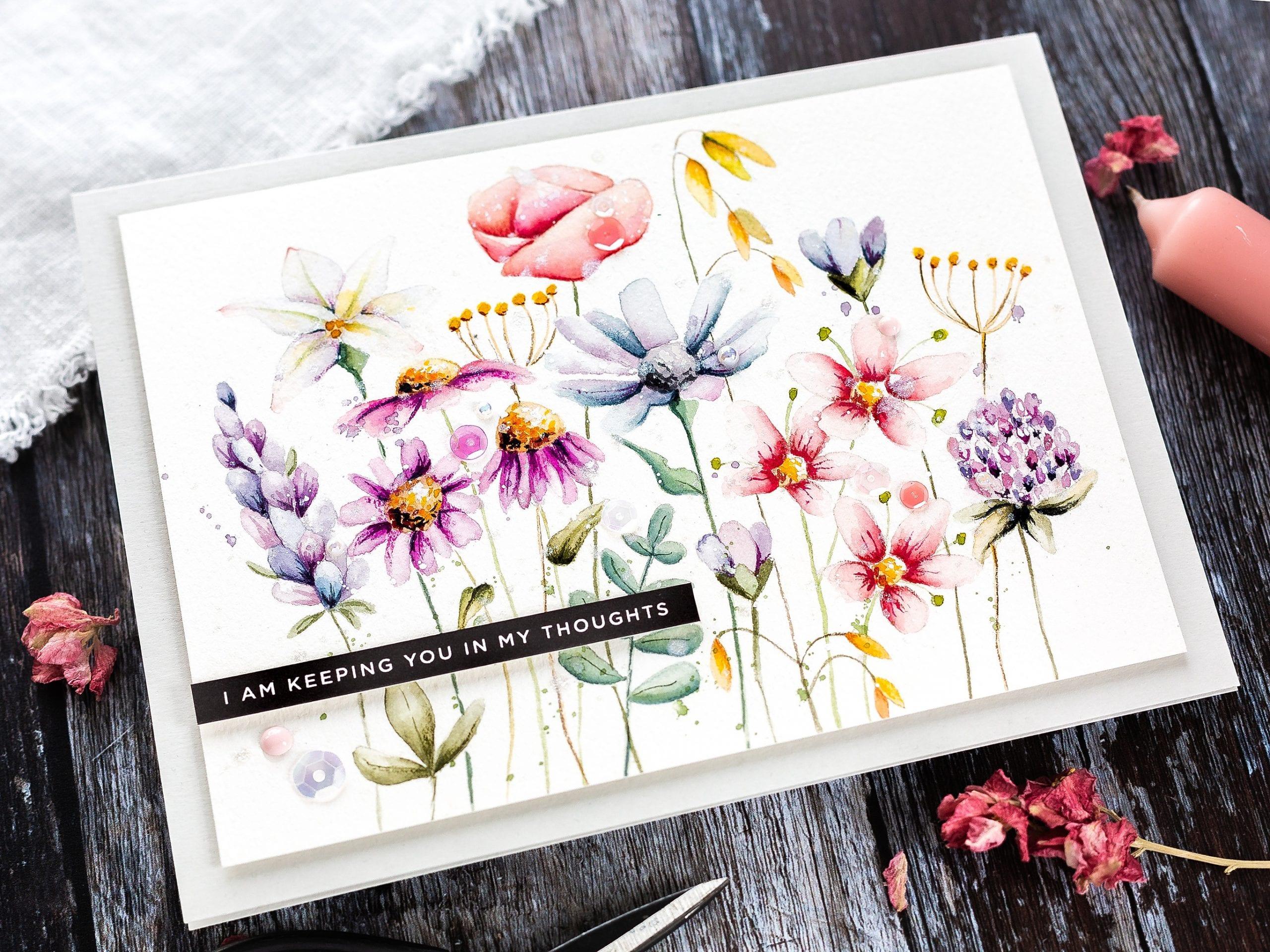 Watercoloured Wild Flower Meadow + New Simon Release