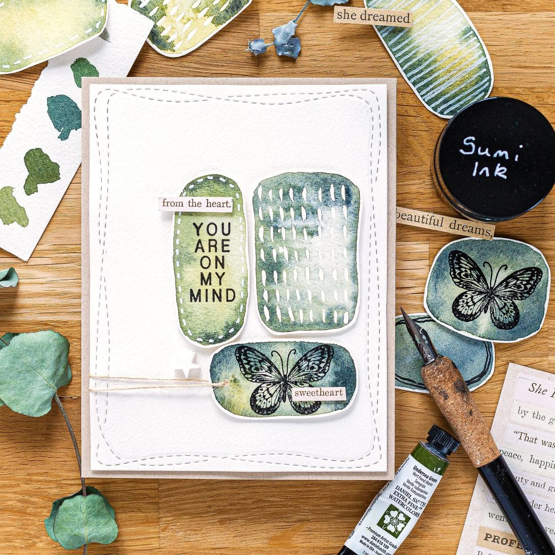 Yet Another Easy Watercolour Background! + New Card Kit