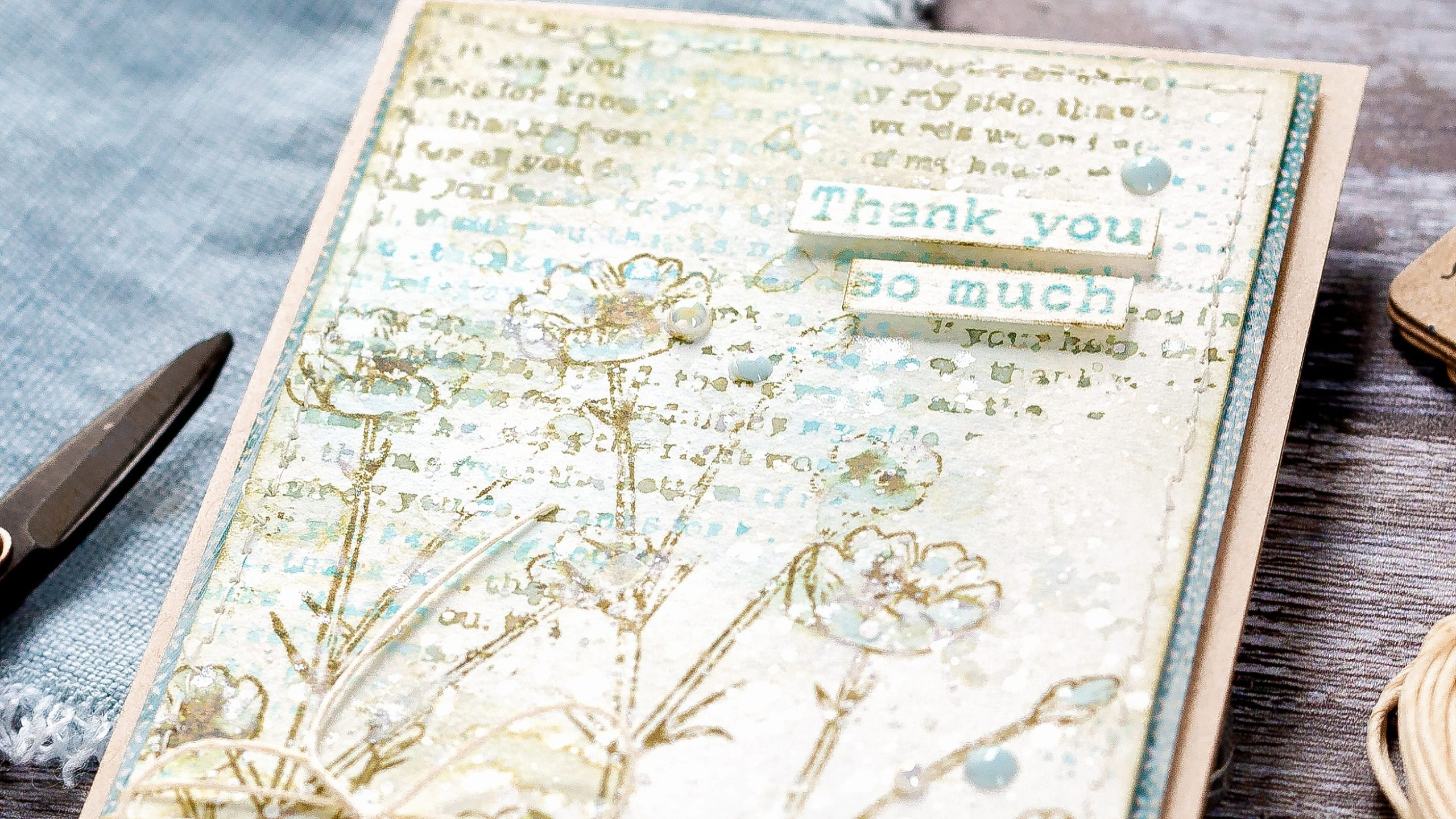 Vintage chic handmade card tutorial by Debby Hughes using supplies from Simon Says Stamp #homemade #vintage