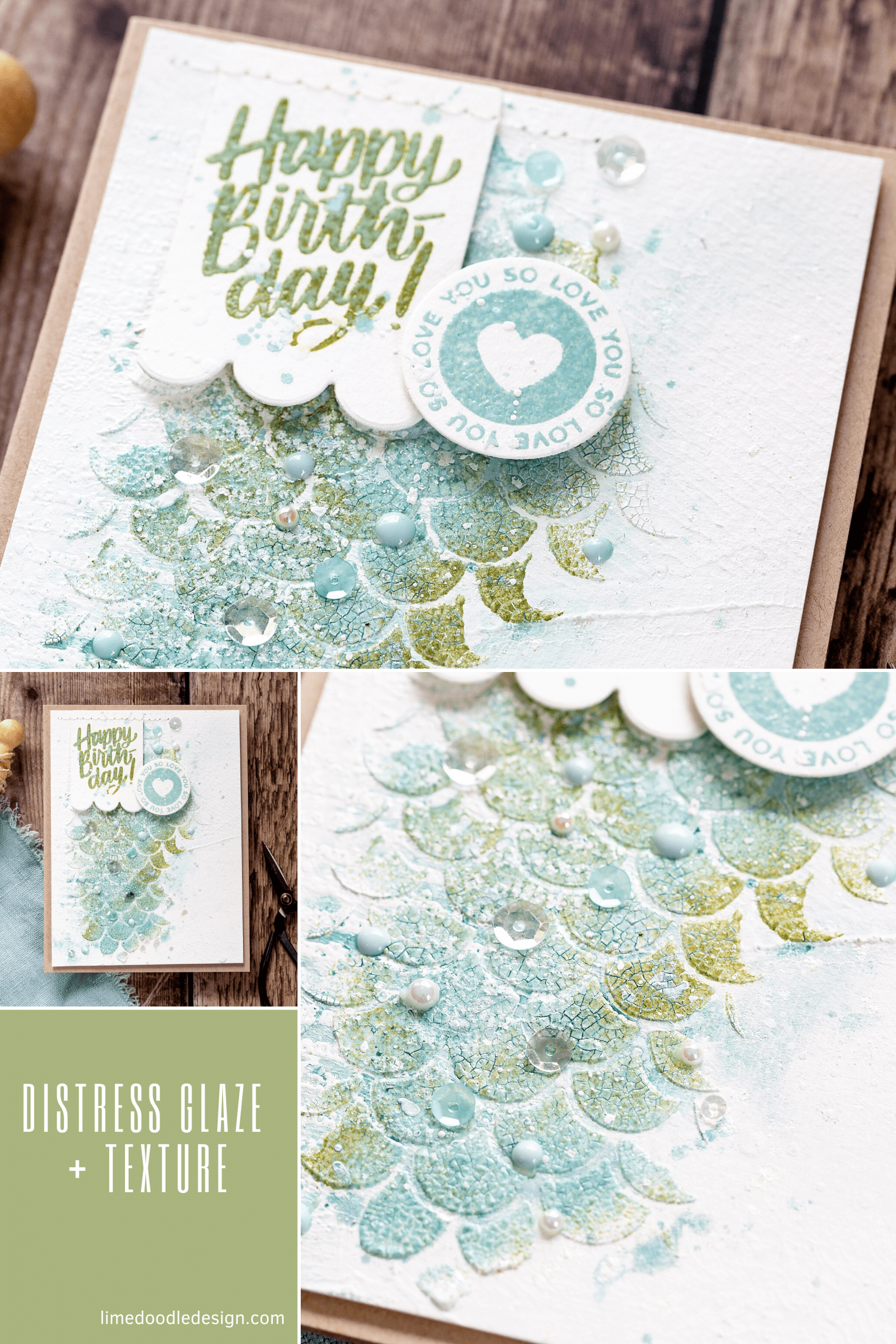 Video tutorial experimenting with Tim Holtz Distress Embossing Glaze + Texture Paste. Handmade card by Debby Hughes using supplies from Simon Says Stamp and Tim Holtz #distress #homemade