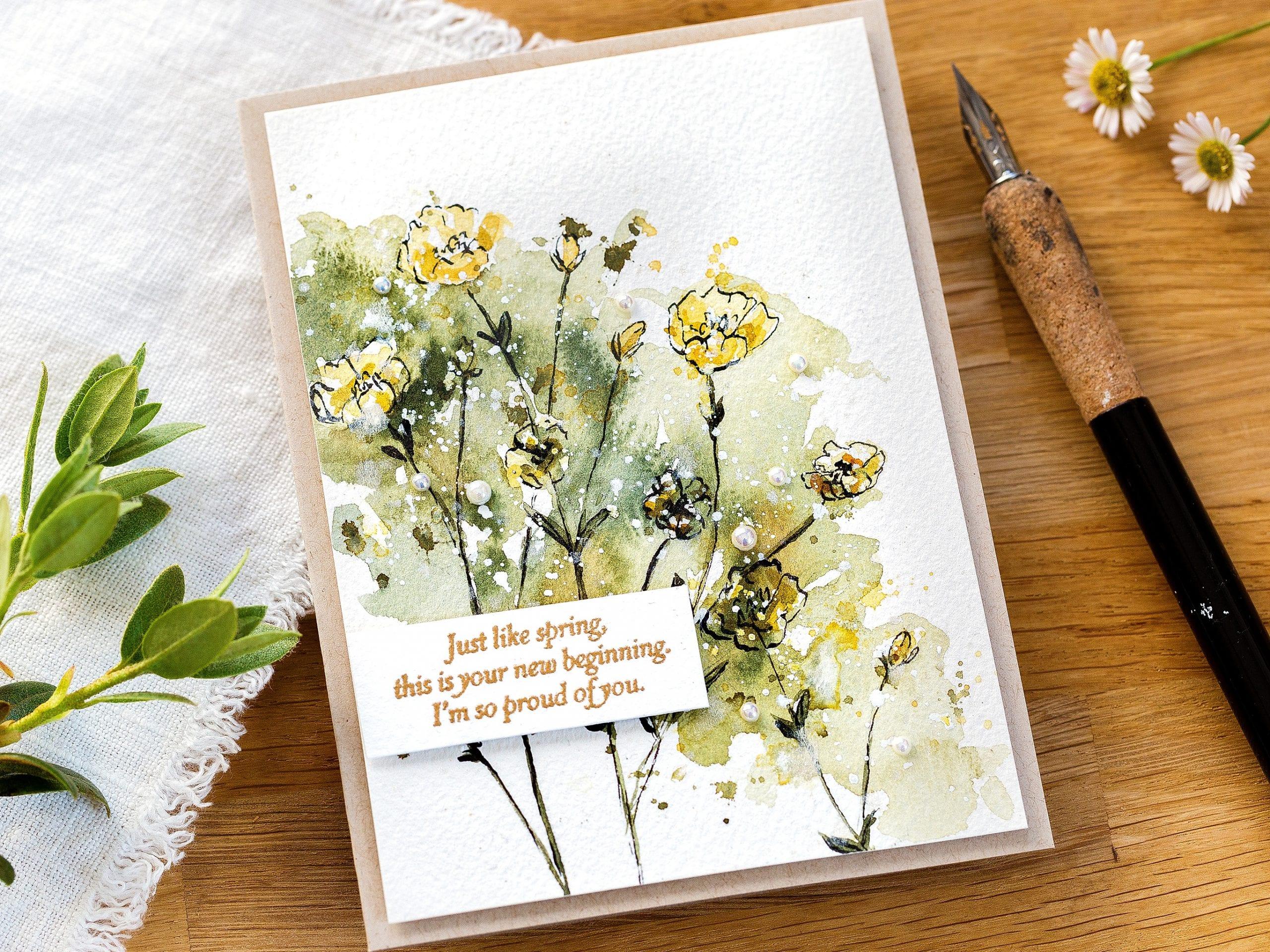 Loose Wildflower Watercolour