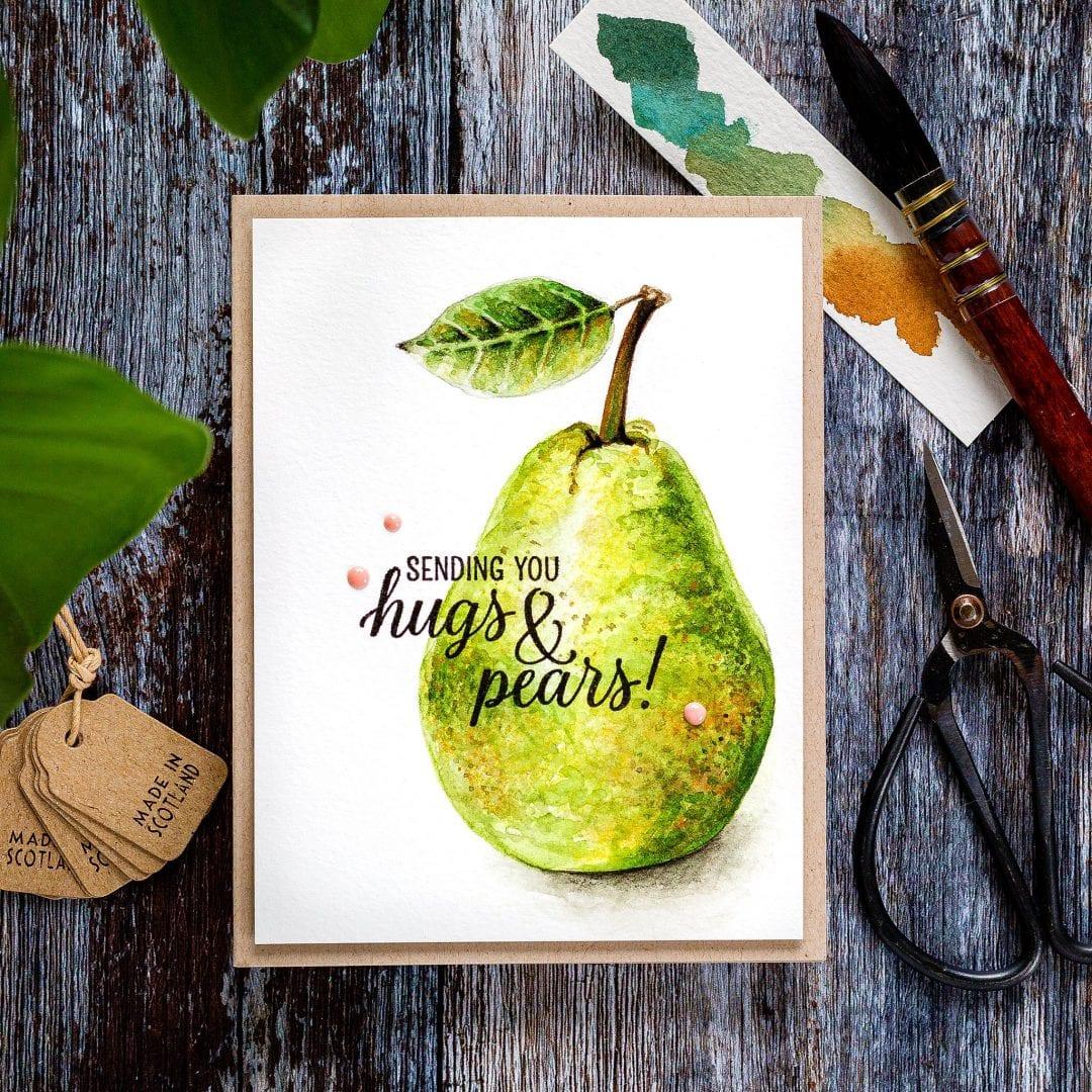 Watercoloured Pear