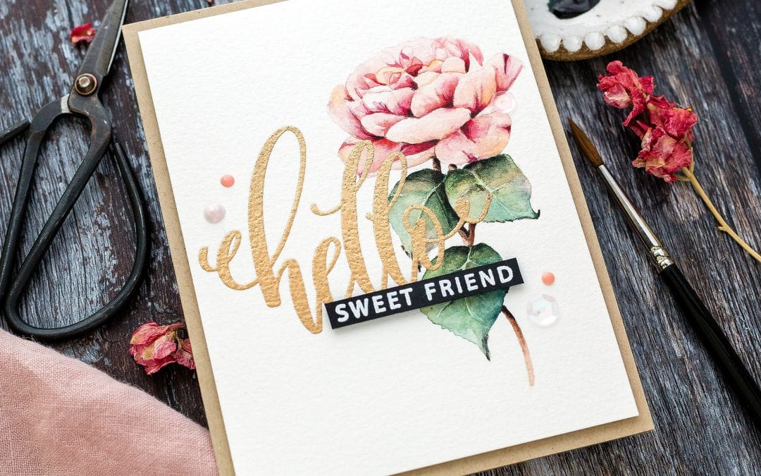 Watercoloured Rose + Blog Hop + Giveaway