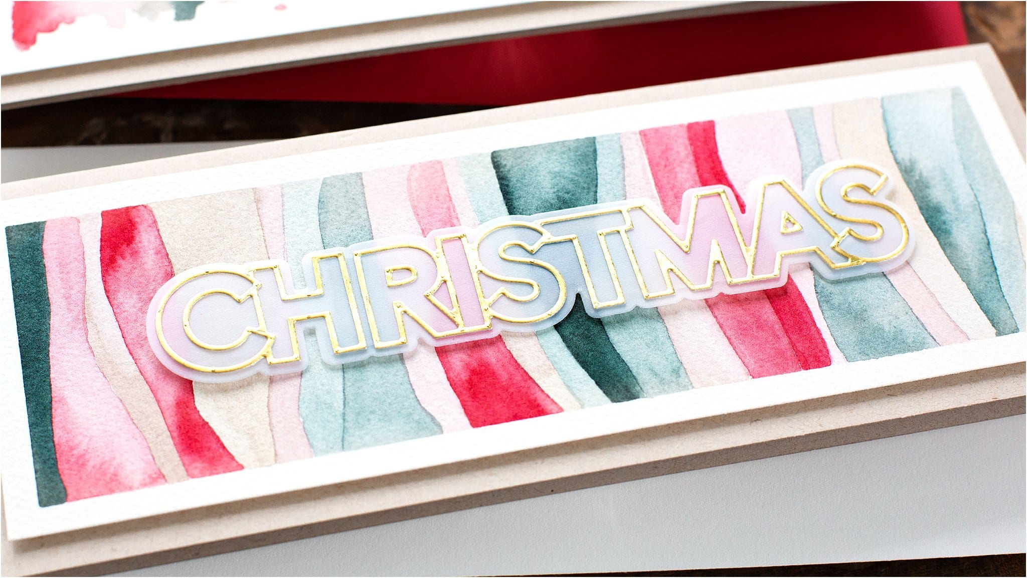 Video tutorial - easy watercolour Christmas handmade cards for beginners by Debby Hughes #watercolor #homemade
