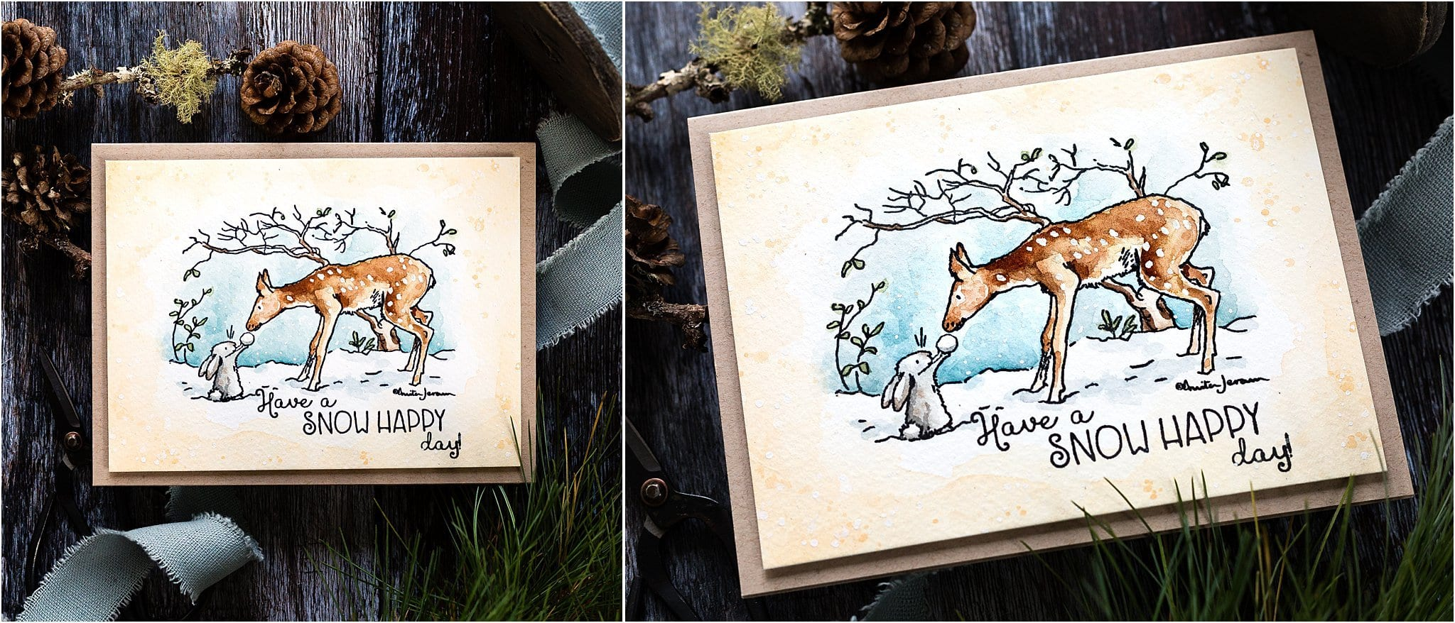 Watercoloured Guess How Much I Love You handmade cards by Debby Hughes using Anita Jeram's illustrations by Colorado Crafts #watercolor #homemade