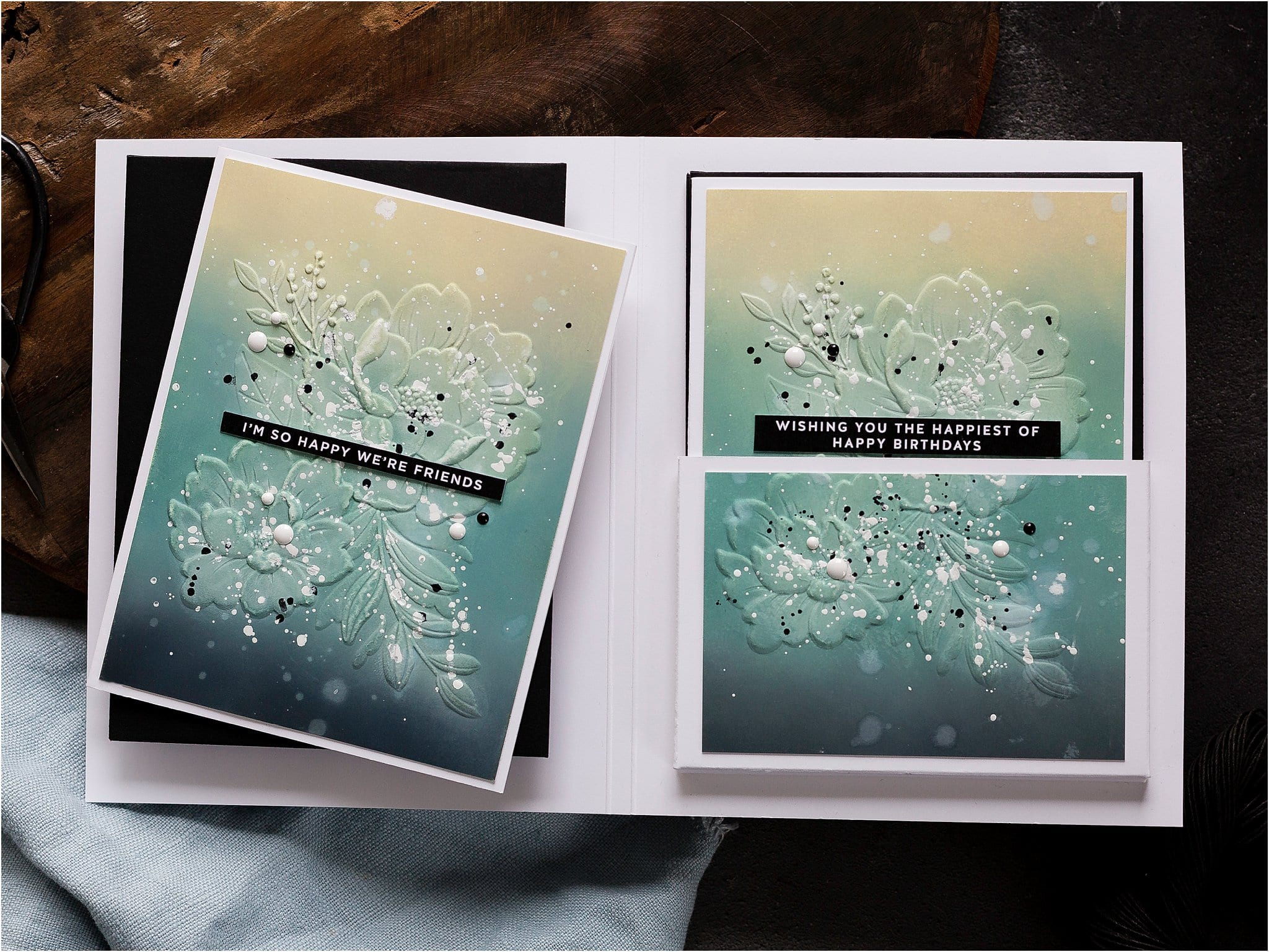 Video – How To Make A Handmade Card Set For Christmas Gifts