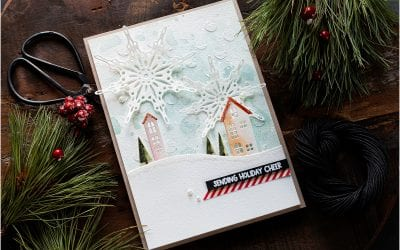 Video – Mixed Media Christmas Scene