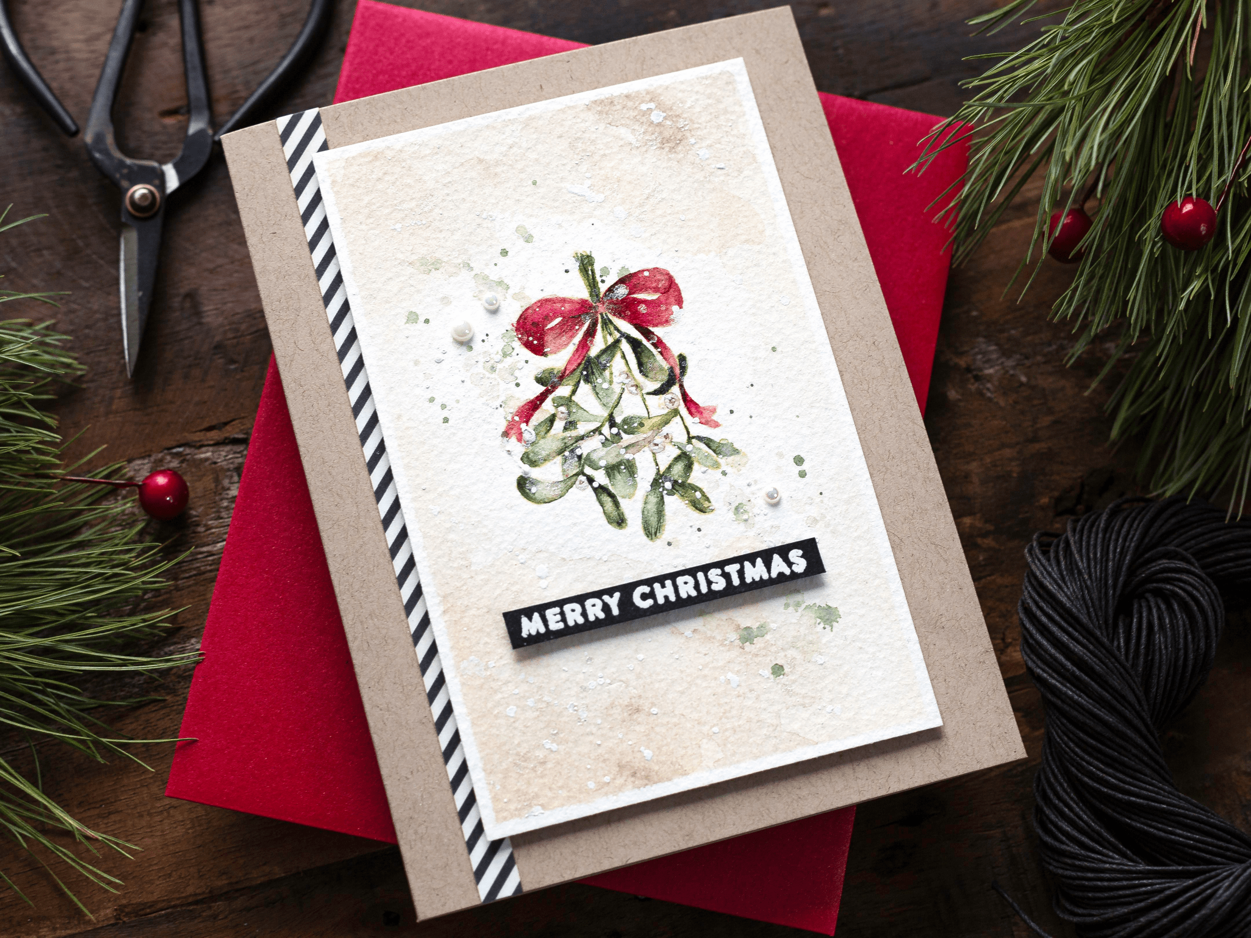 Video – Simple Watercoloured Christmas Card