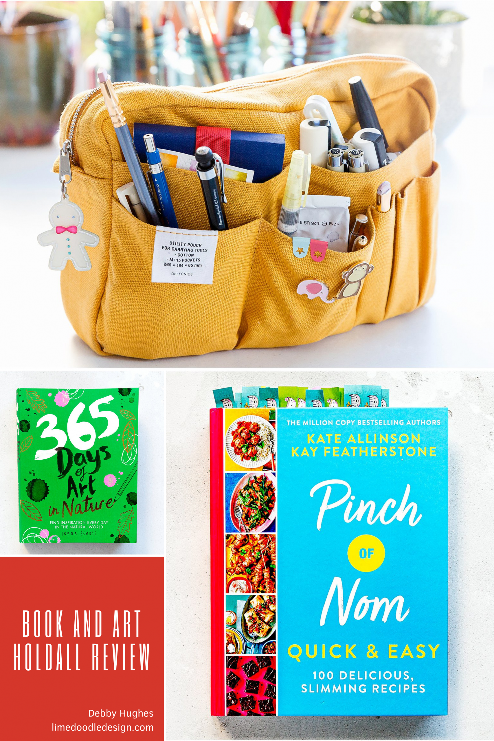 Pinch Of Nom, 365 Days Of Art In Nature and Delfonics Art Holdall video review by Debby Hughes #bookreview #365daysofart #pinchofnom #delfonics