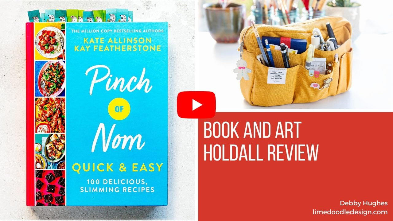 Video review of Pinch Of Nom, 365 Days Of Art In Nature and Delfonics Art Holdall by Debby Hughes #bookreview #pinchofnom $365daysofart #delfonics