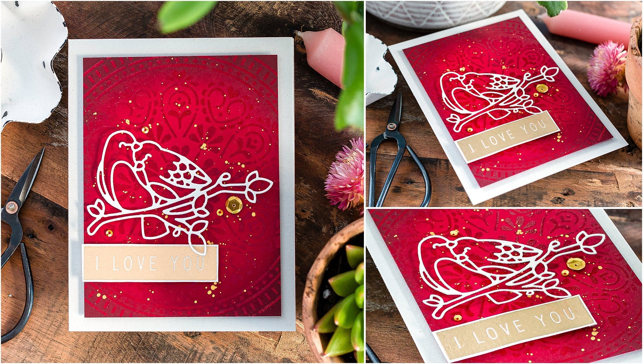 Video tutorial sharing a simple handmade Valentine's card by Debby Hughes #handmadecards #cardmaking #cardmakingideas #cardmakingtechniques  #cardmakingtutorials #handmadecardideas