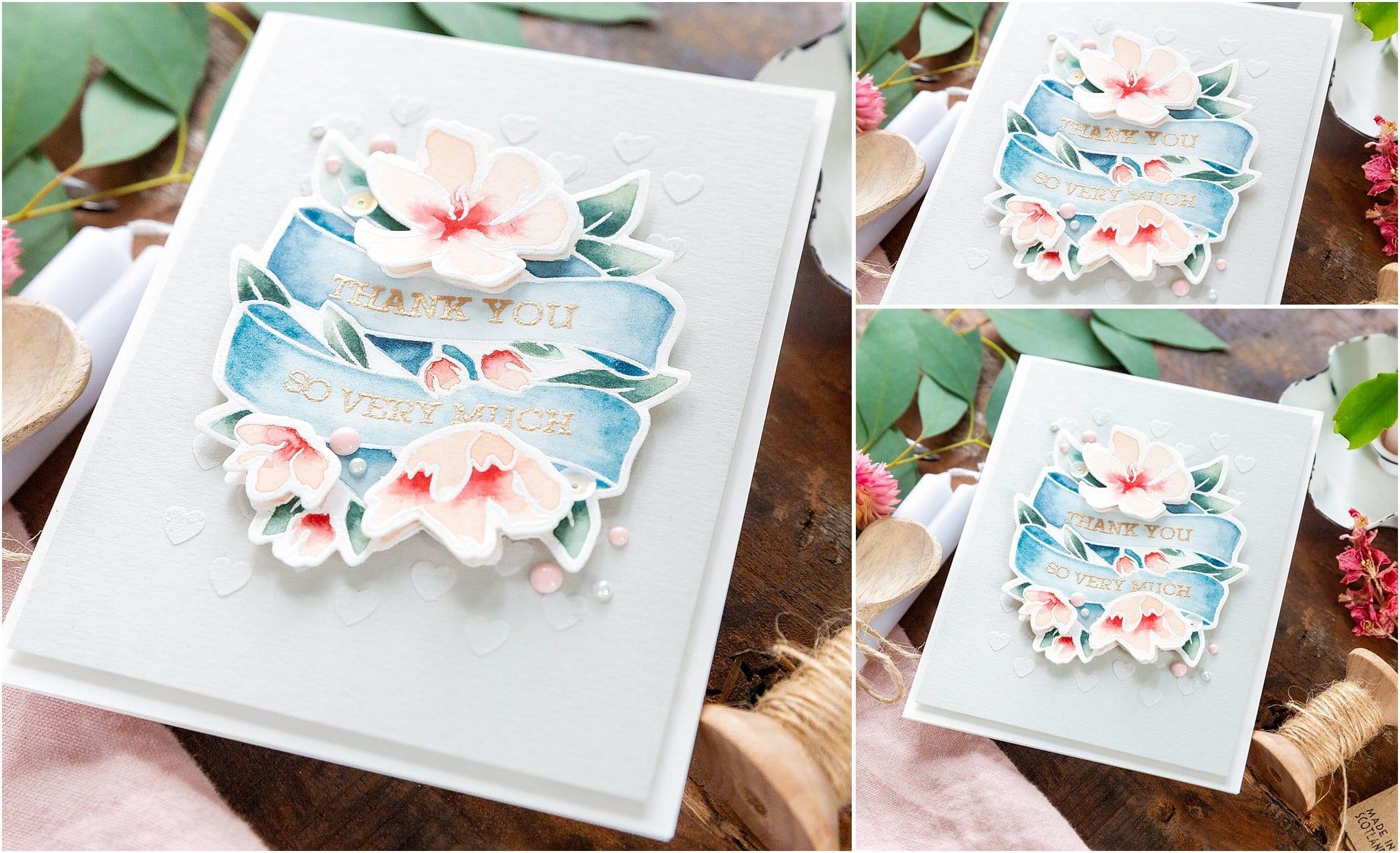 Video tutorial - watercoloured floral banner handmade card by Debby Hughes using supplies from Simon Says Stamp #handmadecards #cardmaking #cardmakingideas #cardmakingtechniques  #cardmakingtutorials #handmadecardideas #simonsaysstamp