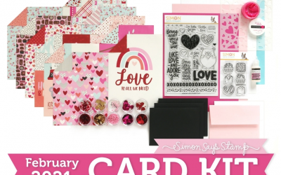 I'm Putting The Final Touches + Simon Says Stamp February Card Kit