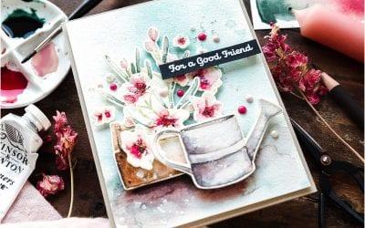 Watercoloured Flower Garden + Blog Hop + Giveaway
