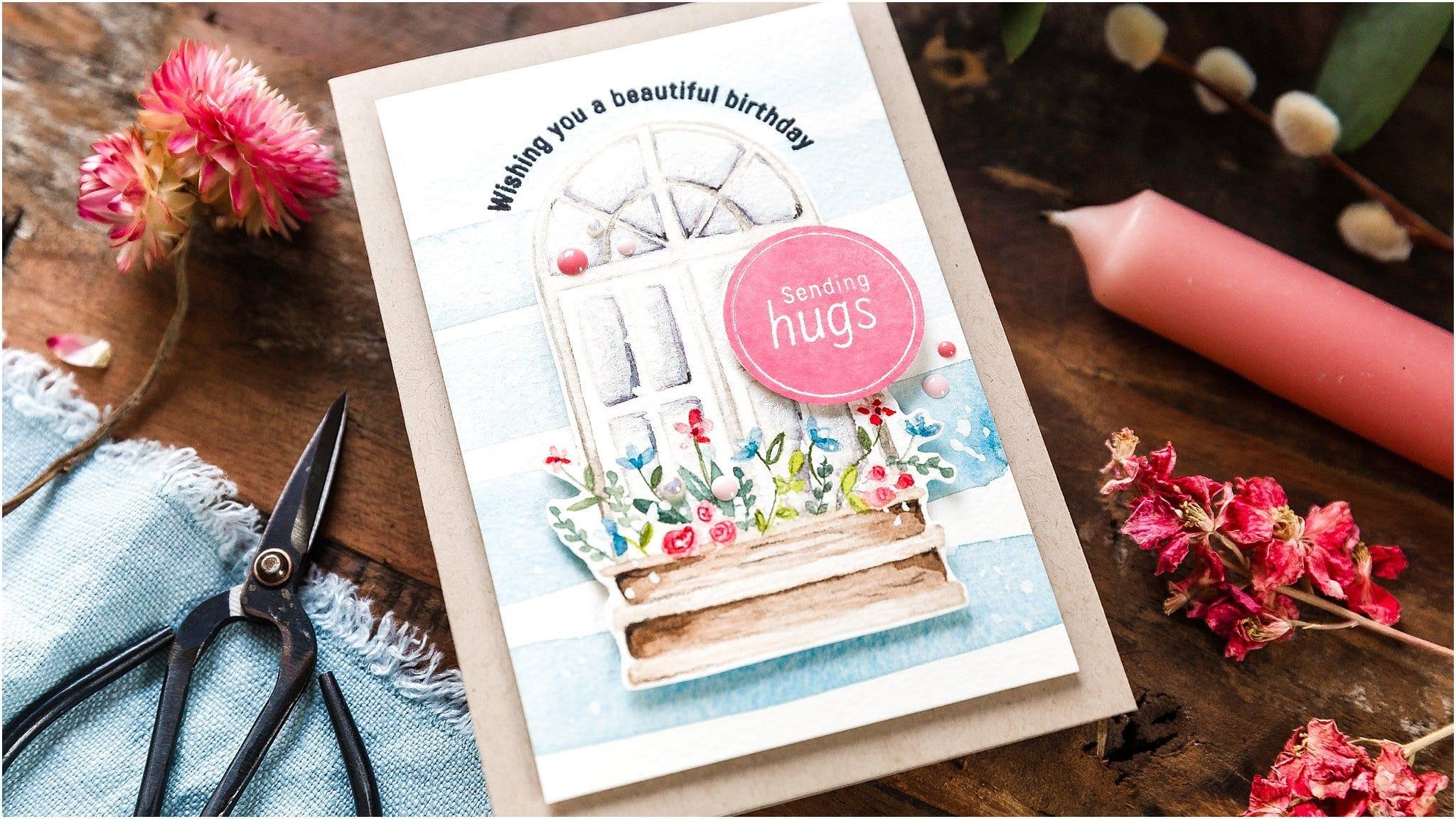 Watercoloured Spring Window + April Card Kit