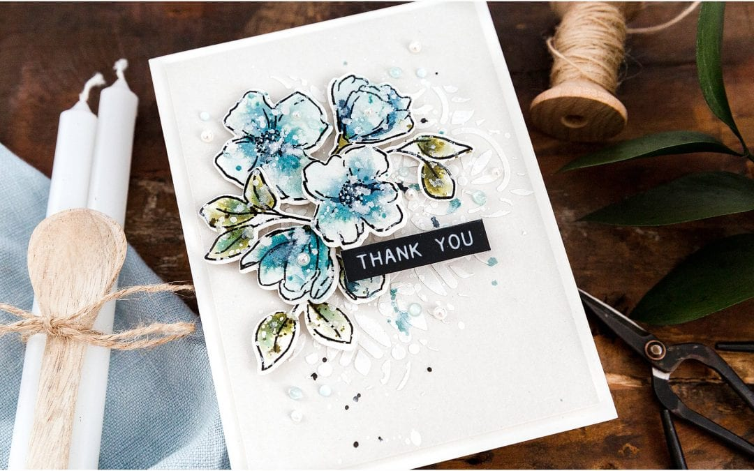 Video – Watercoloured Stamped Flowers