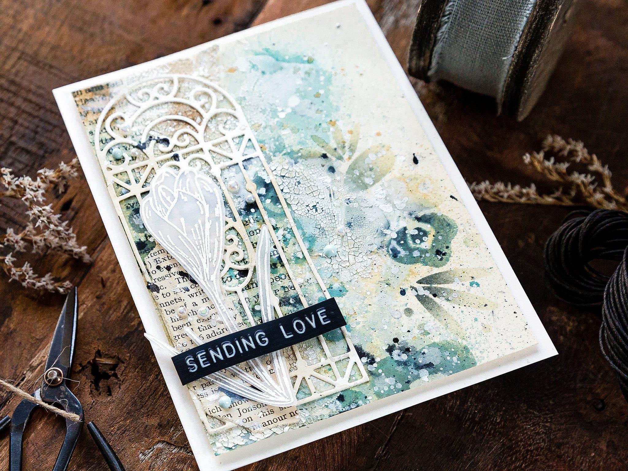 Video tutorial - mixed media card by Debby Hughes, mistakes and all! #debbyhughes #limedoodledesign #handmadecards #cardmaking #cardmakingideas #cardmakingtechniques  #cardmakingtutorials #handmadecardideas #simonsaysstamp #timholtz #distress #mixedmedia