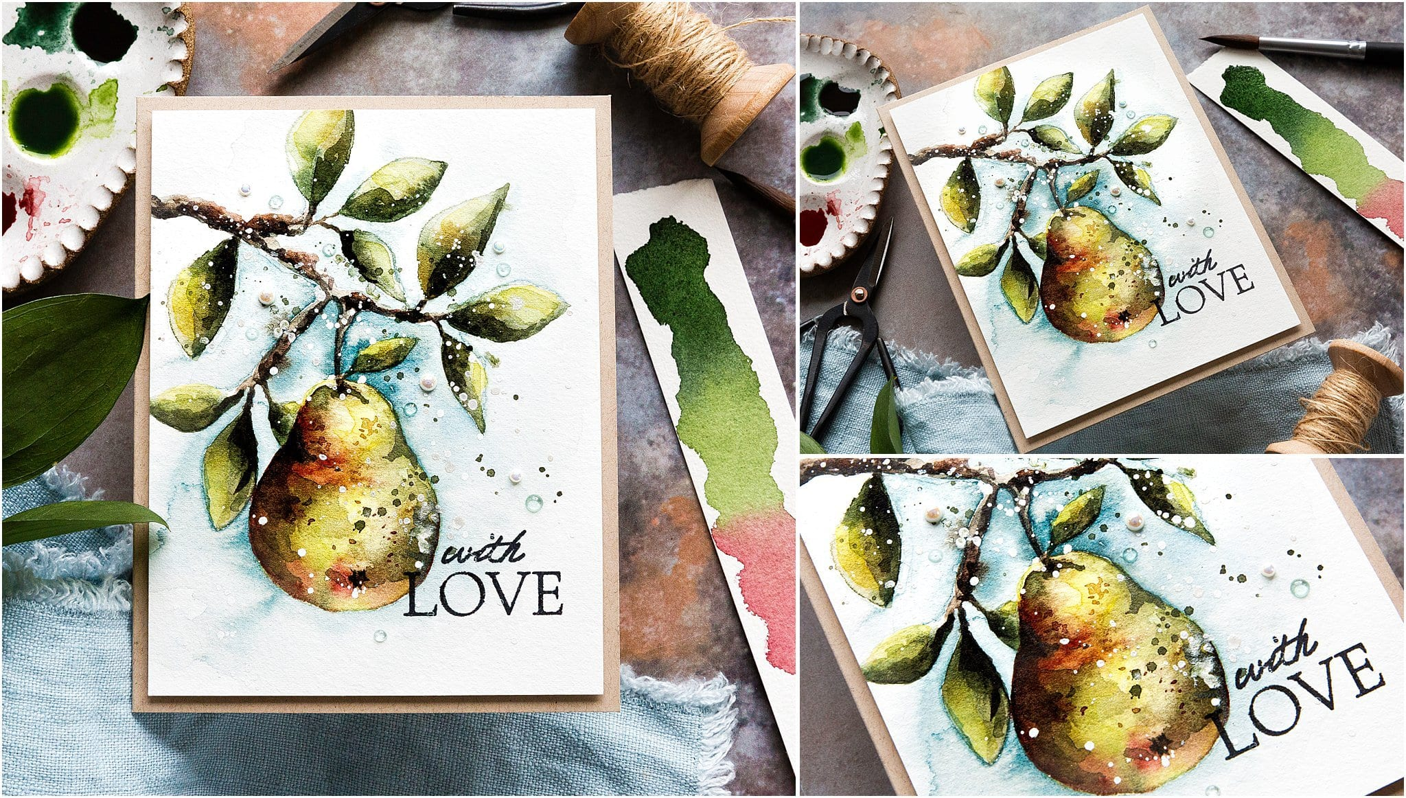 Video tutorial - getting that all important watercolour mixing and paint to water ratio right. Handmade card by Debby Hughes using supplies from Simon Says Stamp #handmadecards #cardmaking #cardmakingideas #cardmakingtechniques  #cardmakingtutorials #handmadecardideas #simonsaysstamp
