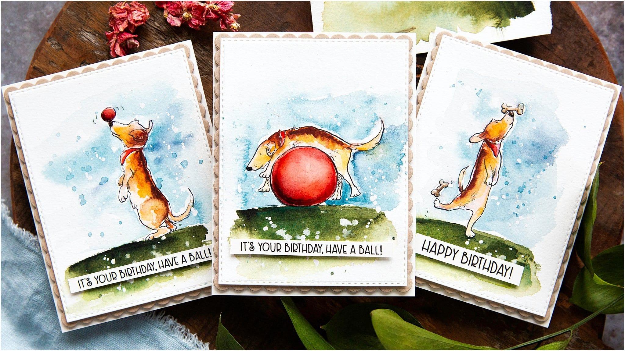 Cute watercoloured handmade card set trio by Debby Hughes using supplies from Colorado Craft Company with Anita Jeram #handmadecards #cardmaking #cardmakingideas #cardmakingtechniques  #cardmakingtutorials #handmadecardideas #coloradocraftcompany #anitajeram