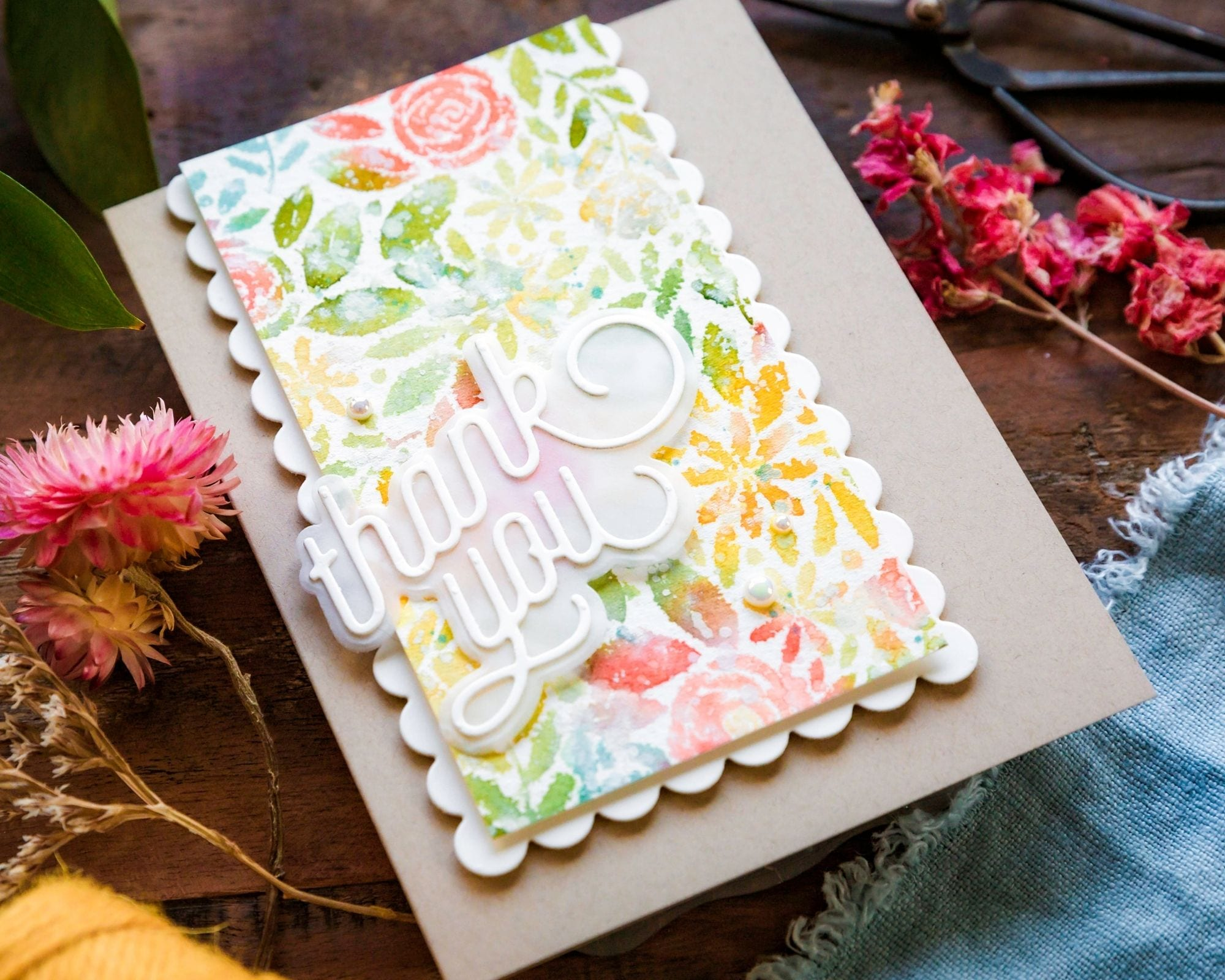 Video tutorial watercoloured backgrounds for the faint hearted! Handmade cards by Debby Hughes using supplies from Simon Says Stamp