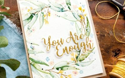 Watercoloured Wreath + Blog Hop + Giveaway