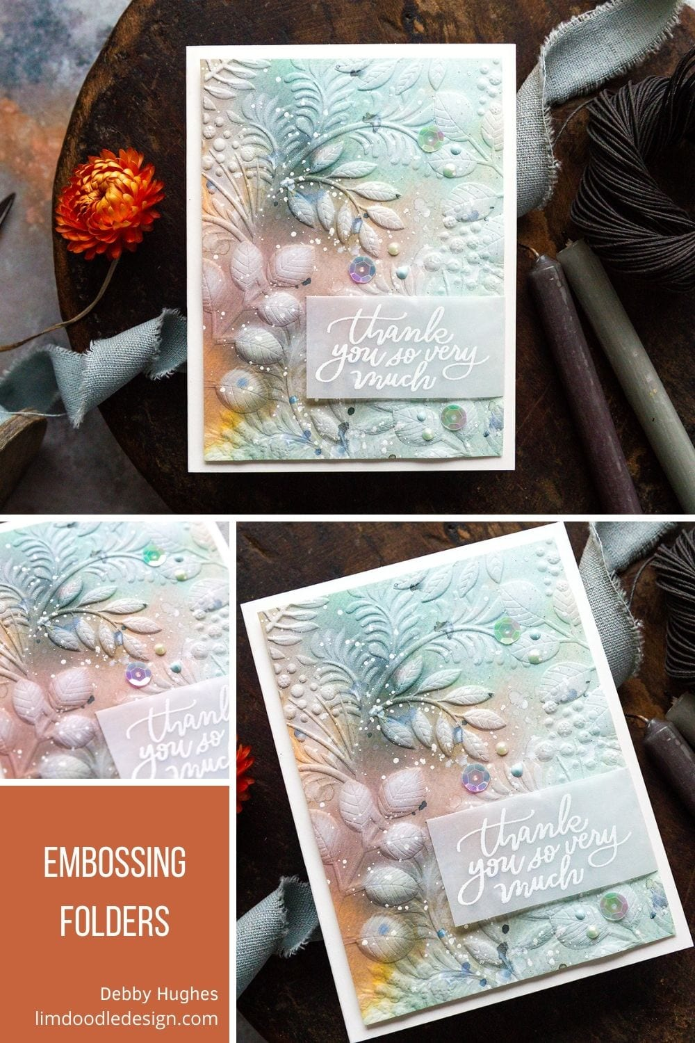Video tutorial quick and easy detail with embossing folders using supples from Simon Says Stamp and Tim Holtz. #timholtz #handmadecards #cardmaking #cardmakingideas #cardmakingtechniques  #cardmakingtutorials #handmadecardideas #simonsaysstamp