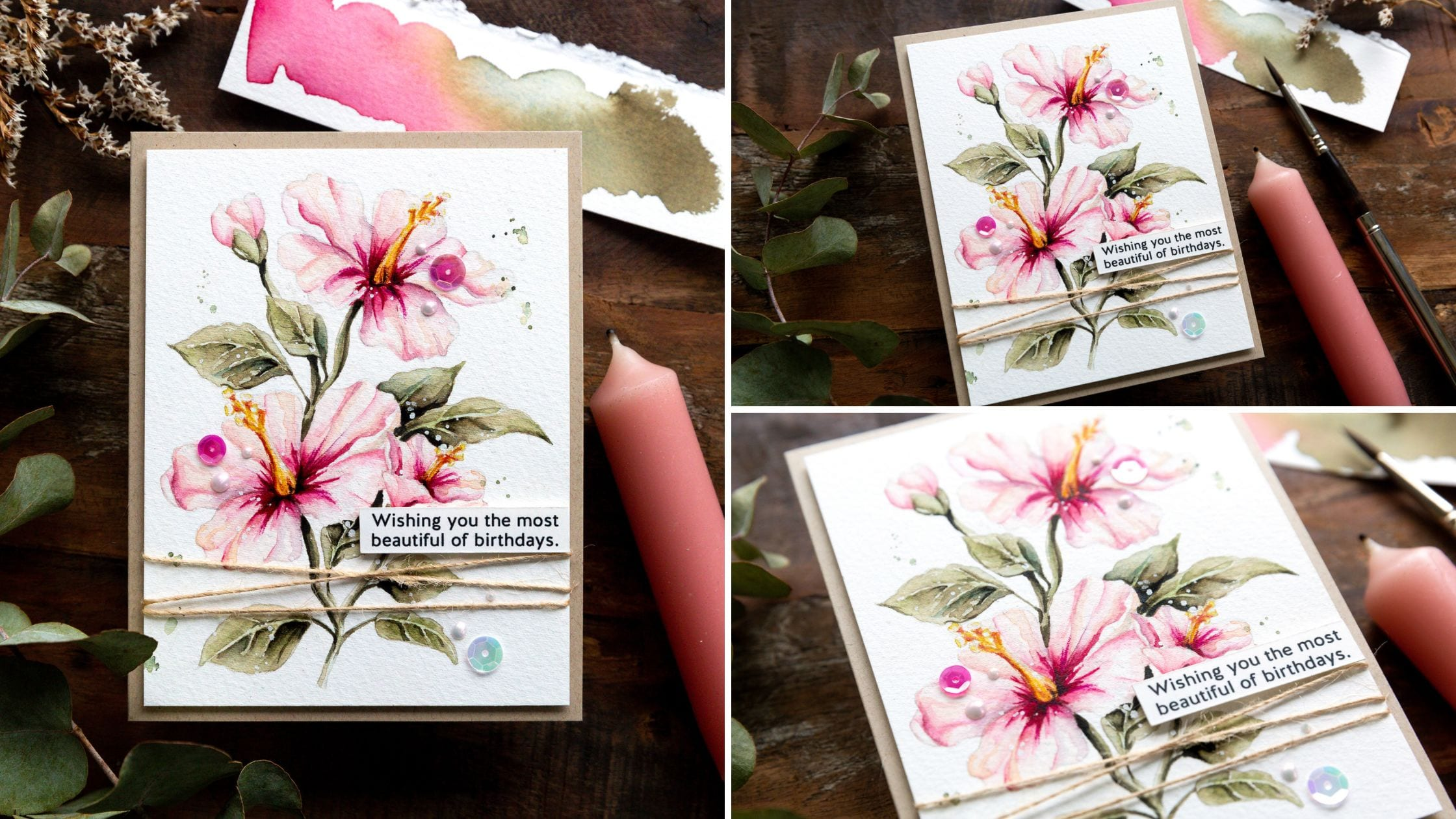 Video tutorial - watercolour top tip - working in layers. Handmade card design by Debby Hughes using supplies from Simon Says Stamp #handmadecards #cardmaking #cardmakingideas #cardmakingtechniques  #cardmakingtutorials #handmadecardideas #simonsaysstamp