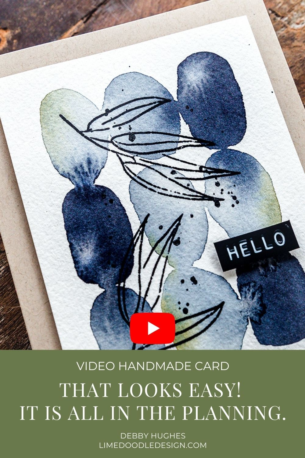 Video tutorial -  That looks so easy! The planning that goes in to an 'easy' project. Handmade card by Debby Hughes using supplies from Simon Says Stamp. #handmadecards #cardmaking #cardmakingideas #cardmakingtechniques  #cardmakingtutorials #handmadecardideas #simonsaysstamp