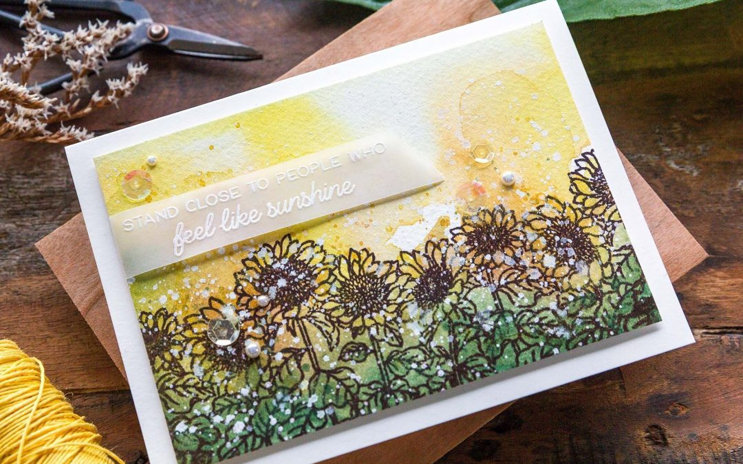 Simple Autumn Scene + Honey Bee STAMPtember release
