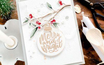 Merry & Bright Christmas Ornament + Blog Hop